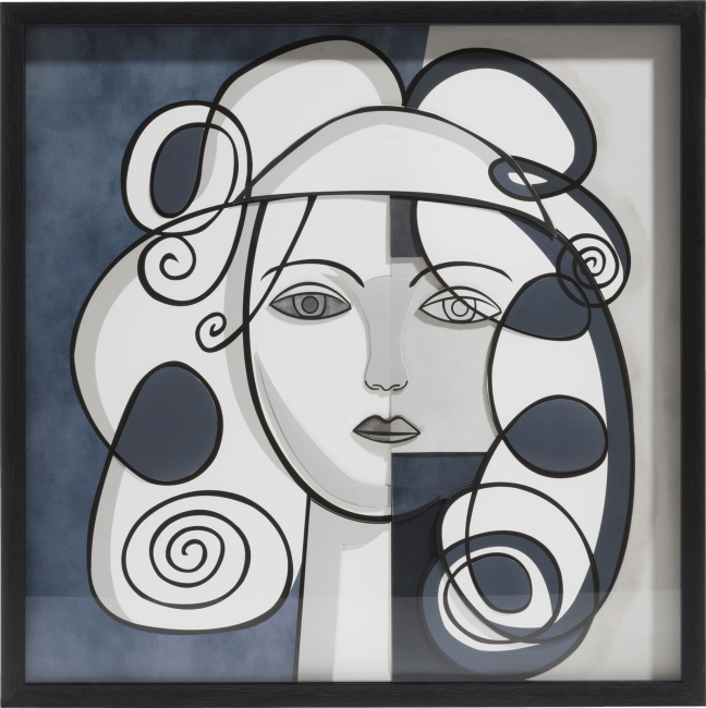 Coco Maison - 3-d wand-object abstract face - 60 x 60 cm