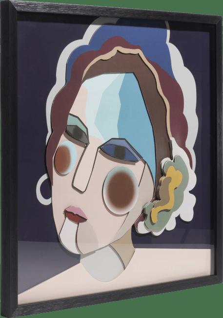 Coco Maison - 3-d wand-object madame - 60 x 60 cm