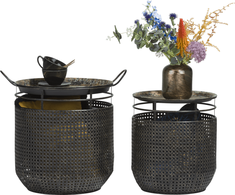Coco Maison - set van 2 bijzettafels leya - indoor & outdoor