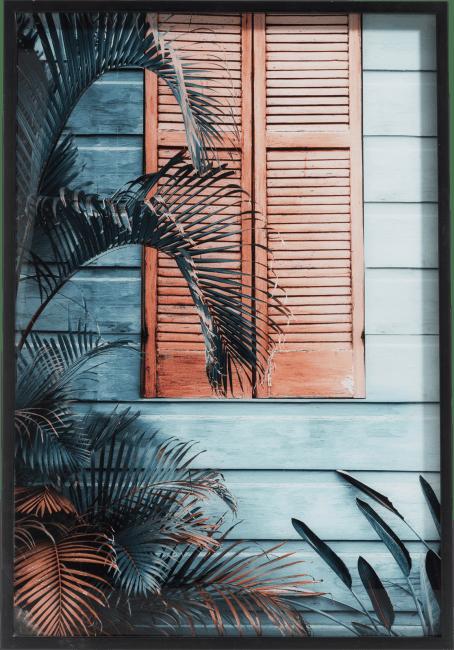 Coco Maison - schilderij byron - 70 x 100 cm - print op glas