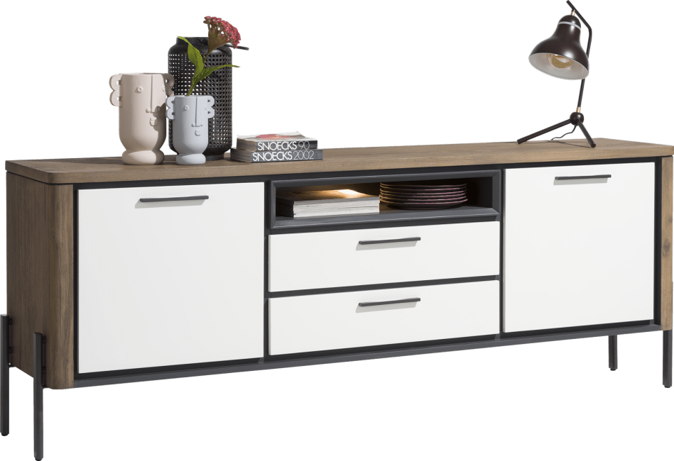 Shirley - sideboard 210 cm - 2-tueren + 2-laden + 1-nische (+ led)