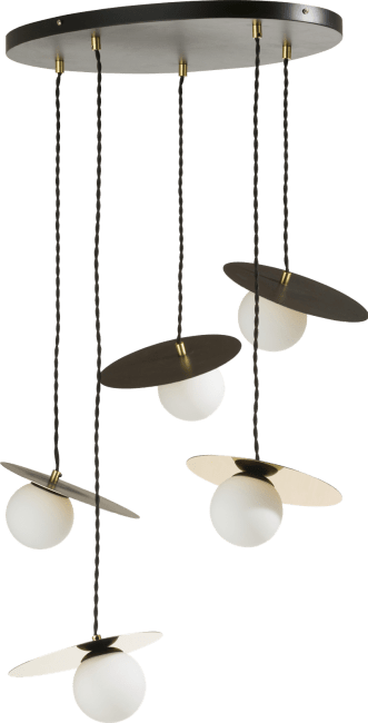 Coco Maison - jonah, hanglamp 5-lamps (g9)