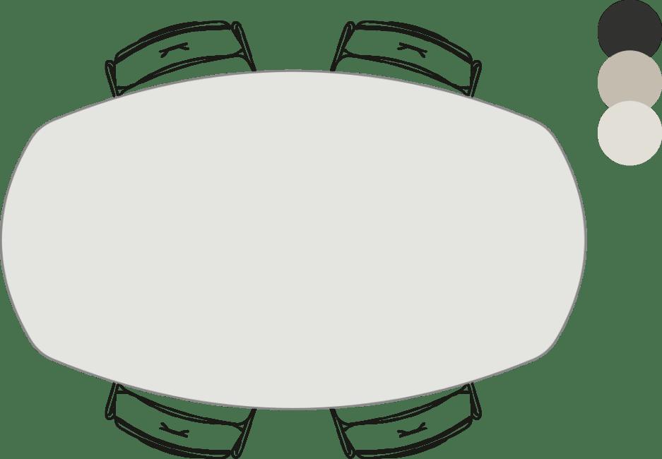 Sunday - bartafel - ovaal - 190 x 110 cm (hoogte: 92 cm)