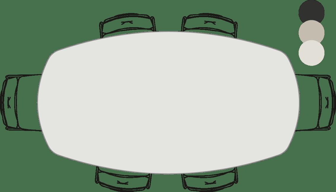 Sunday - tresentisch - oval - 220 x 120 cm (hoehe: 92 cm)