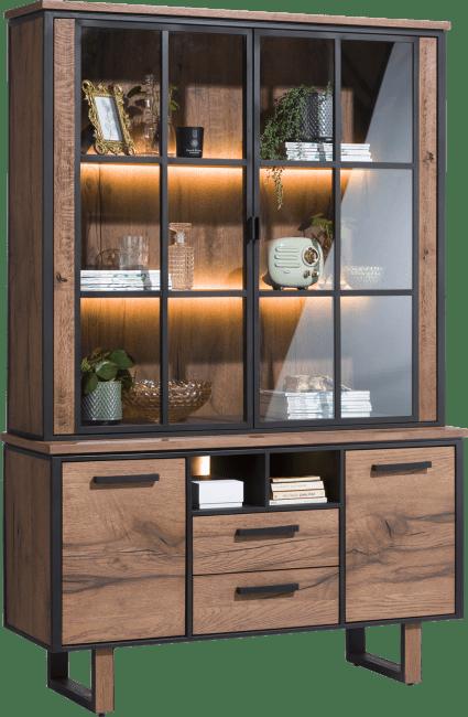 Oxford - buffetkast 2-glasdeuren + 2-deuren + 2-laden + 2-niches