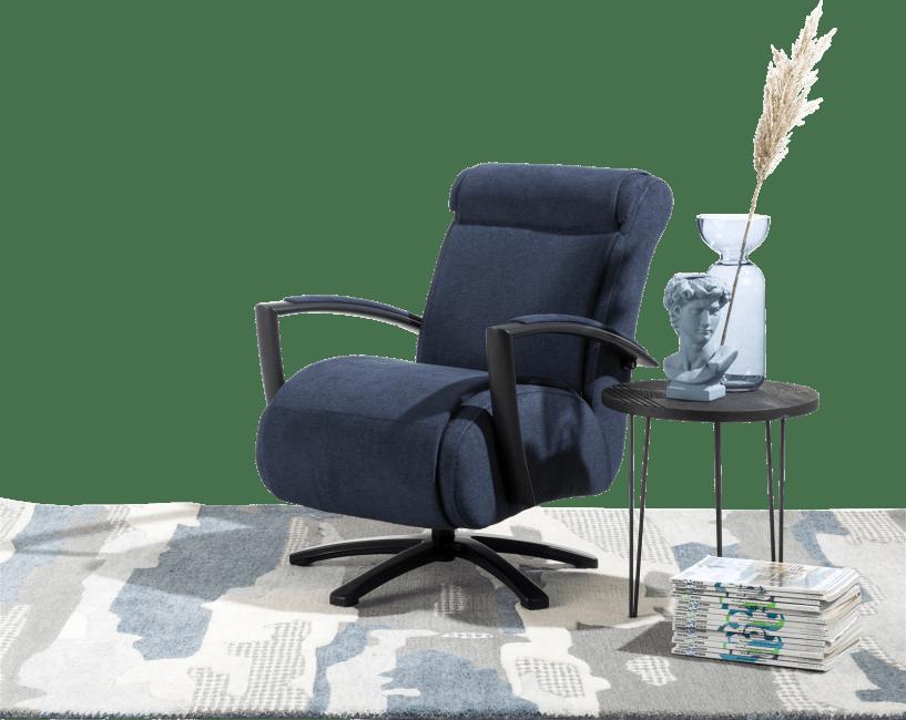 Redlake - fauteuil met draaivoet - rvs of zwart