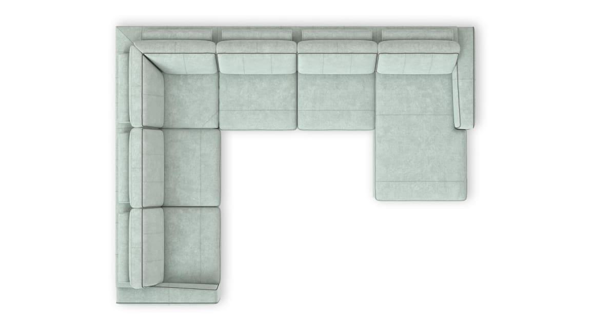 Peru - 2,5 Sitzer Armlehne links - Eckteil - 2,5 Sitzer ohne Armlehne - Longchair rechts