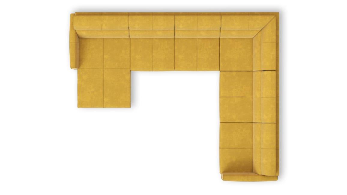Patras - Longchair links - 2 zits zonder arm - hoek - 2,5 zits arm rechts