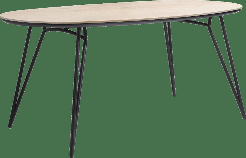 Vik - bartafel ovaal 220 x 120 cm. (hoogte: 92 cm.)