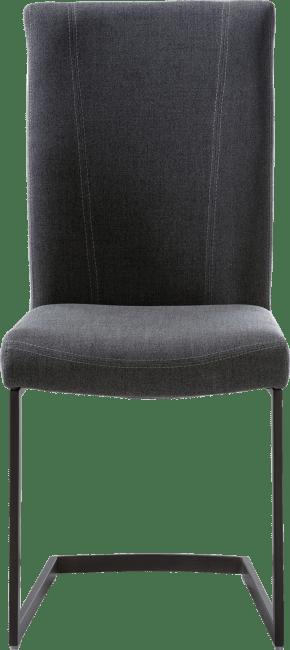 Sono - eetkamerstoel - zwart swing recht