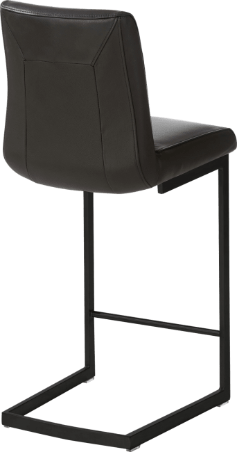 Malvino Bar - barstoel - zwart metal swing vierkant