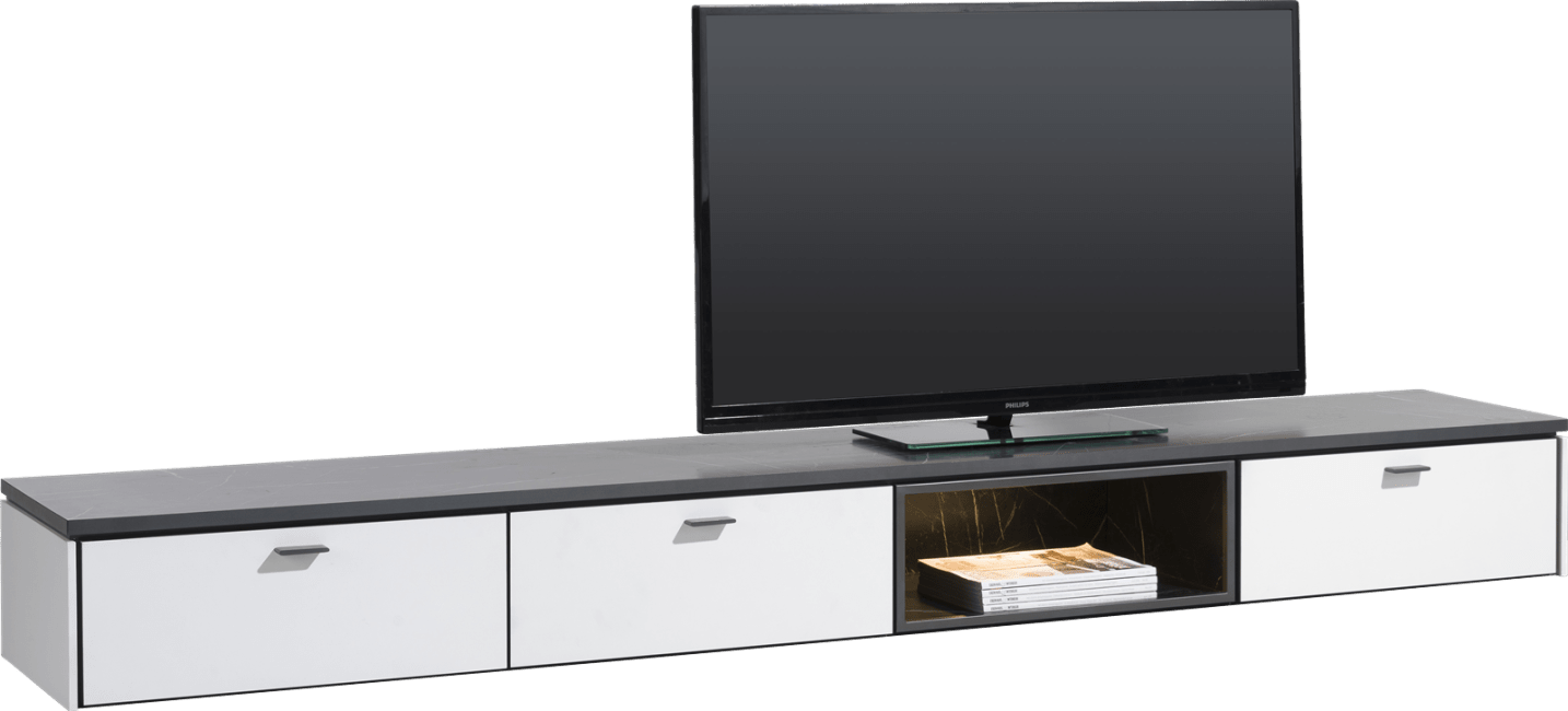 Bogota - tv-kast 240 cm - 2-laden + 1-klep + 1-niche (+ led)