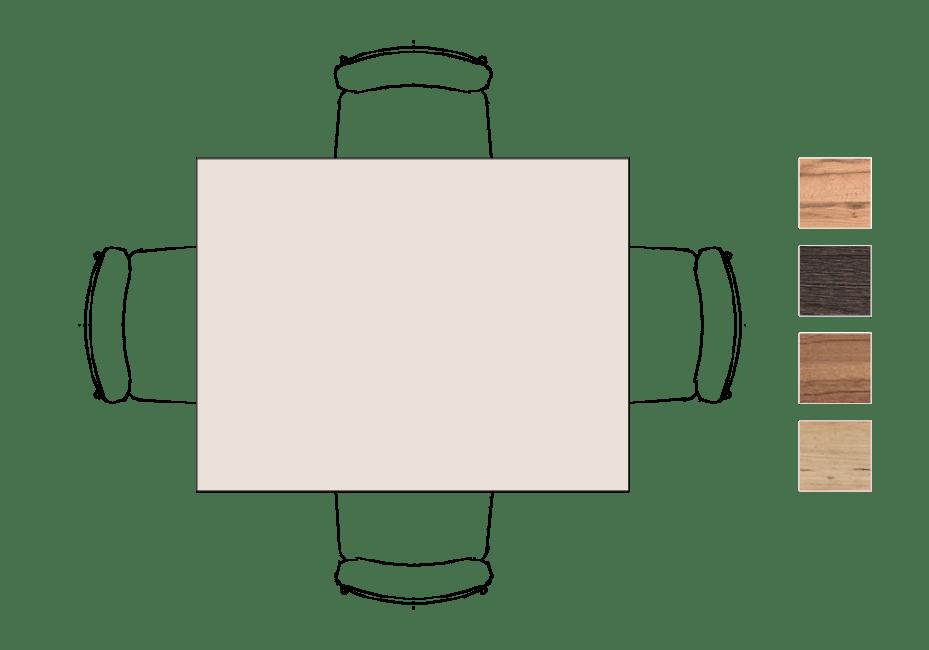 Moreni - eetkamertafel 130 x 100 cm