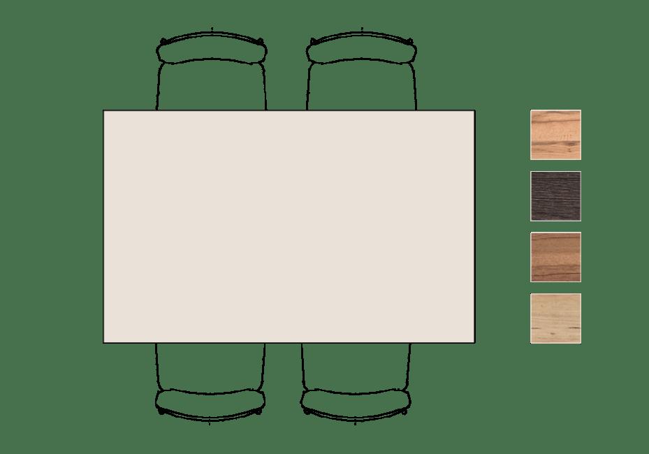 Moreni - eetkamertafel 160 x 100 cm