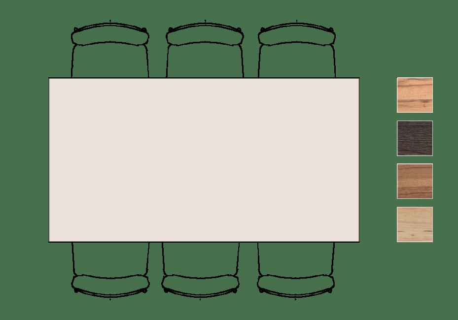 Moreni - bartafel 190 x 100 cm (hoogte: 92 cm)