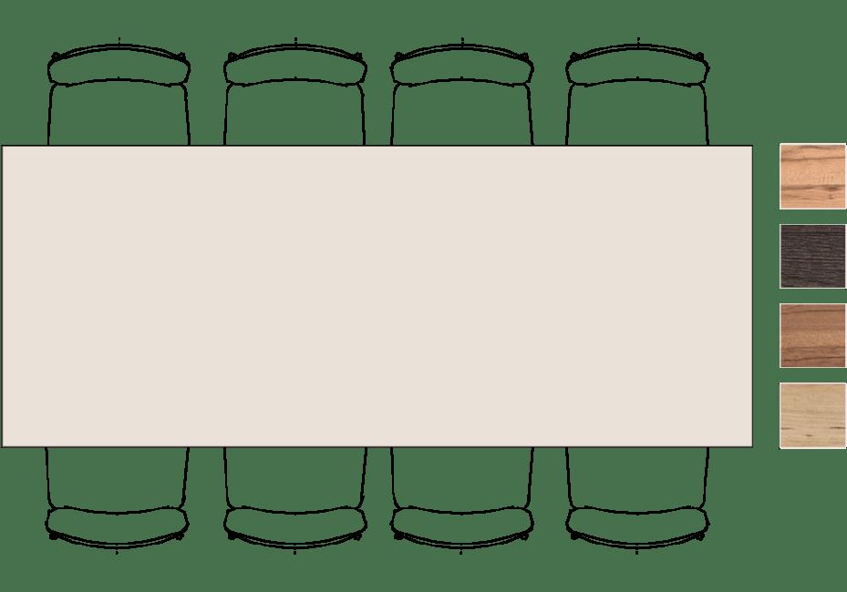 Moreni - eetkamertafel 250 x 100 cm