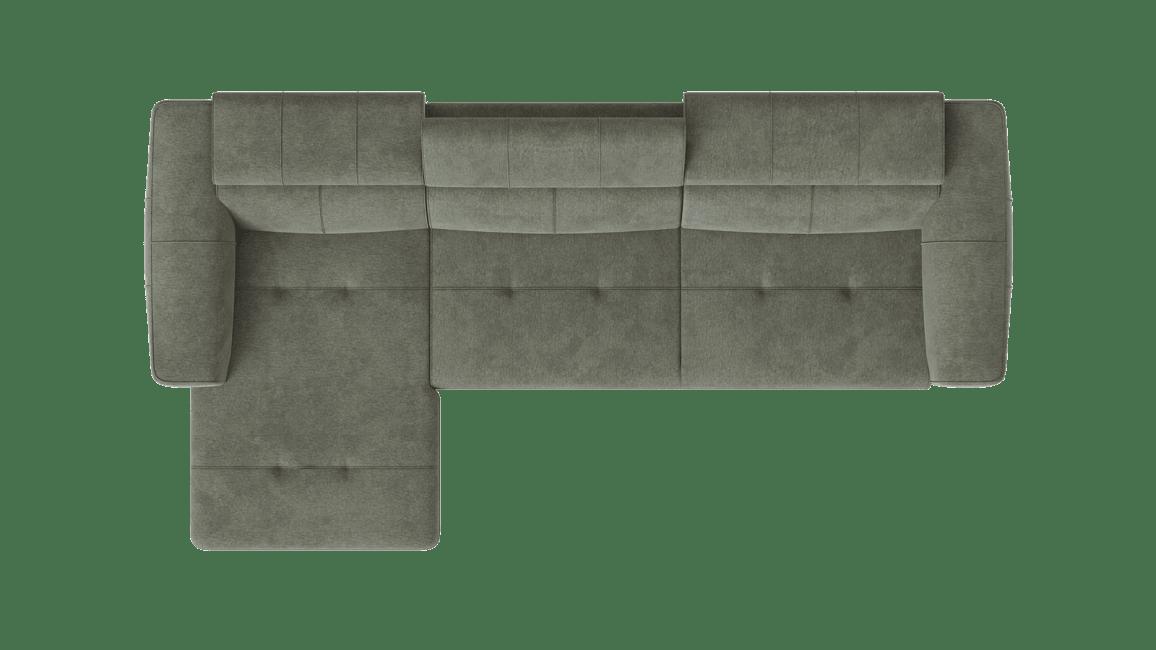 Talisman - Meridienne gauche - 3 places accoudoir droit