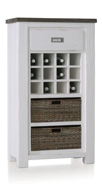 Deaumain - wijnkast 1-lade + 2-manden + 12-wijnvakken (wisselbaar)