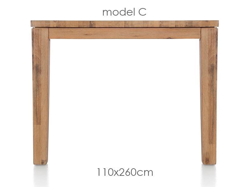 A La Carte - eetkamertafel 260 x 110 cm - cor