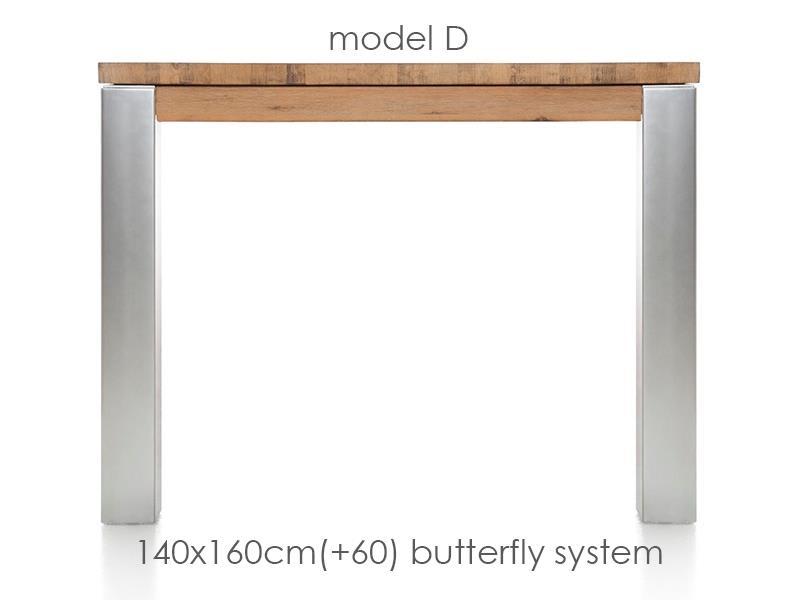 A La Carte - table a rallonge 160 (+ 60) x 140 cm - dirk