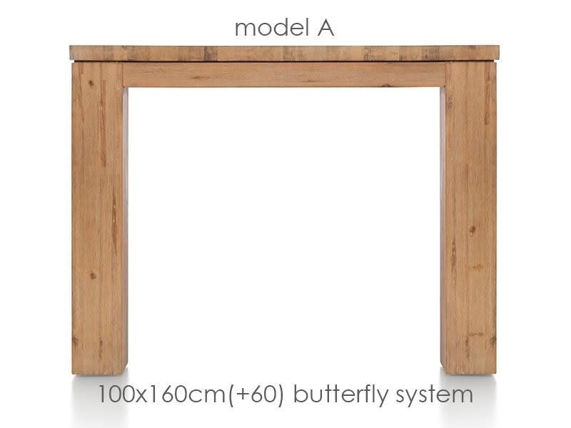 A La Carte - ausziehtisch 160 (+ 60) x 100 cm - aad