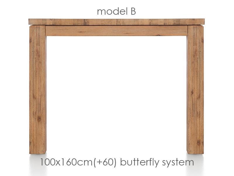 A La Carte - table a rallonge 160 (+ 60) x 100 cm - ben