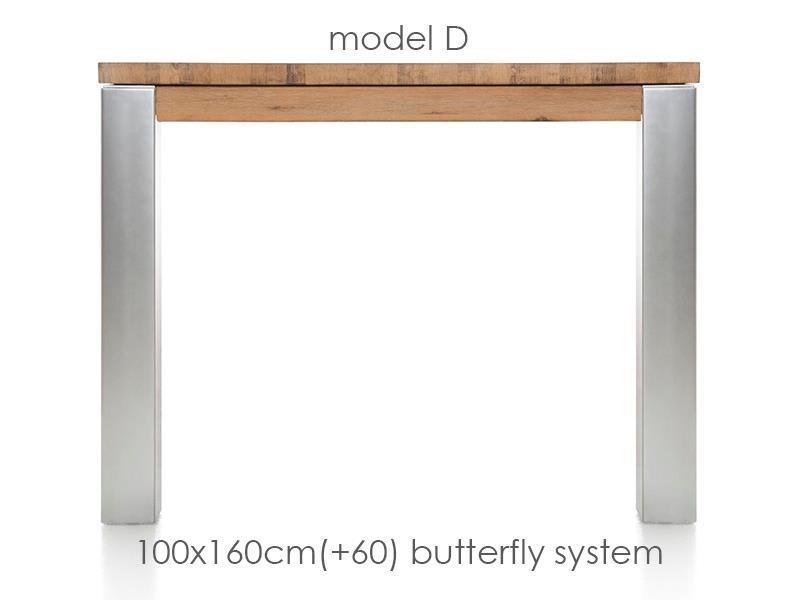 A La Carte - uitschuiftafel 160 (+ 60) x 100 cm - dirk