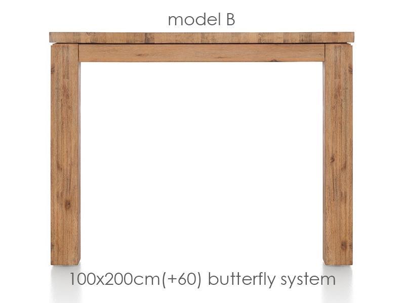 A La Carte - uitschuiftafel 200 (+ 60) x 100 cm - ben