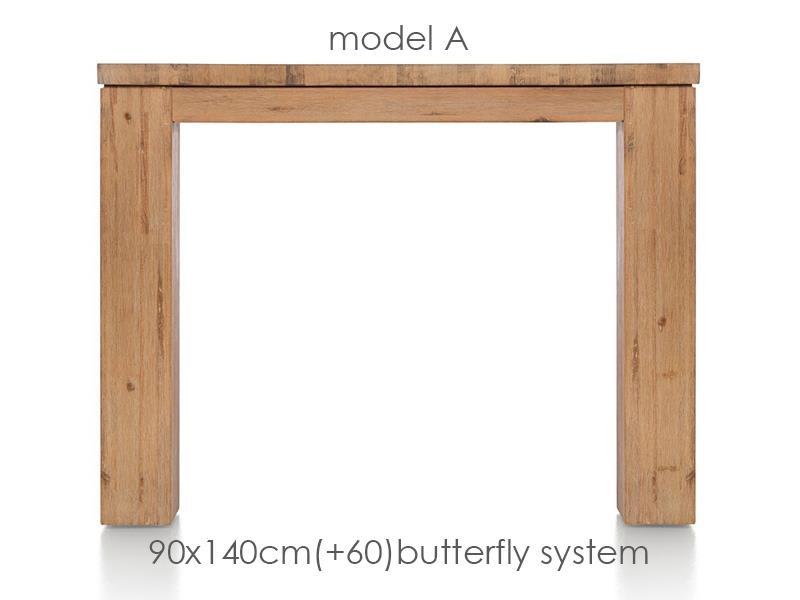 A La Carte - table a rallonge 140 (+ 60) x 90 cm - aad
