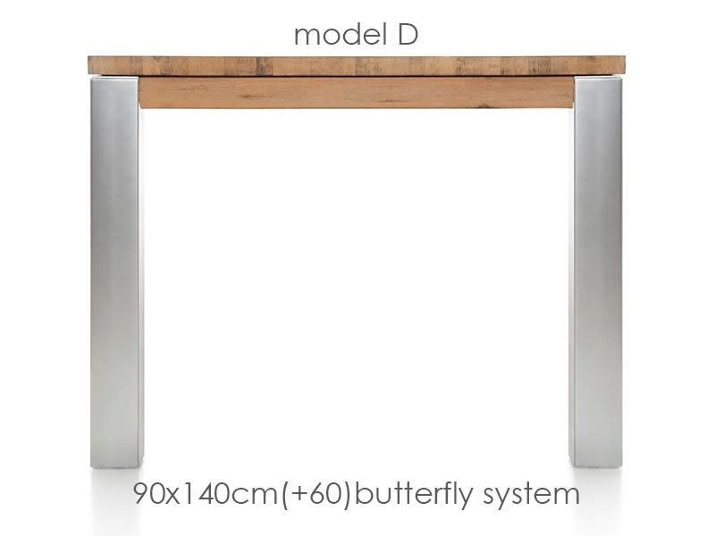A La Carte - uitschuiftafel 140 (+ 60) x 90 cm - dirk