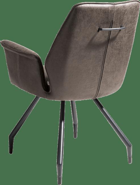 Henders and Hazel - John - Industrieel - armstoel - zwart frame + pootjes - stof secillia