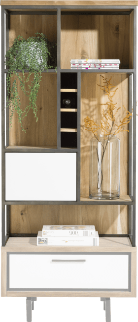 XOOON - Otta - Skandinavisches Design - aufsatz 80 cm + 1-tuer + 5-nischen + 4-weinfacher