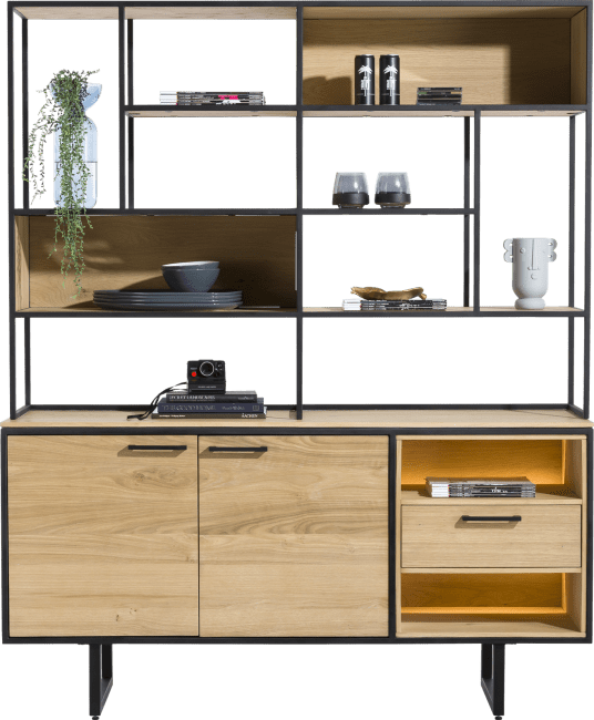 XOOON - Belo - buffet 2-doors + 1-drawer + 12-niches (+ led)