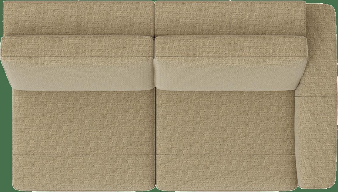 XOOON - Denver - Design minimaliste - Canapes - 2.5-places accoudoir droit