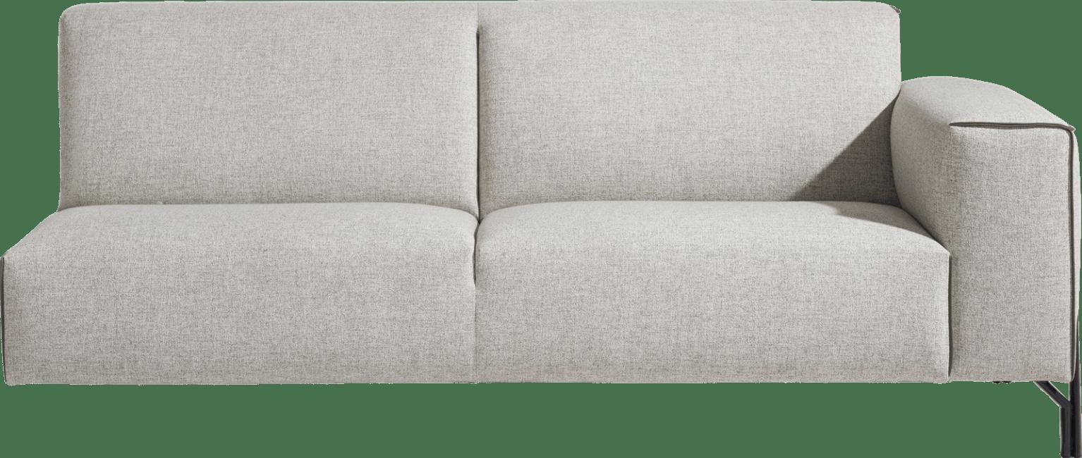 XOOON - Prizzi - Design minimaliste - Toutes les canapés - 3-places accoudoir droit