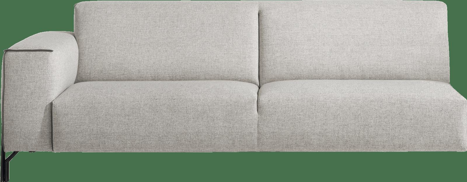 XOOON - Prizzi - Design minimaliste - Toutes les canapés - 3.5-places accoudoir gauche