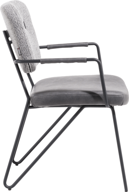XOOON - June - chaise avec accoudoirs - cadre off black + ressorts ensaches