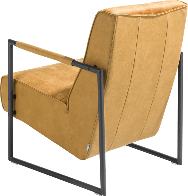 XOOON - Bueno - design Scandinave - fauteuil avec accoudoir en metal off black