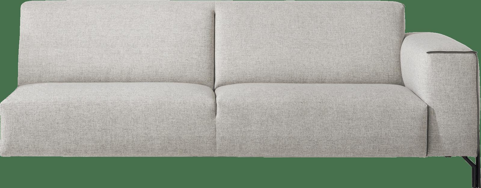 XOOON - Prizzi - Design minimaliste - Canapes - 3.5-places accoudoir droit