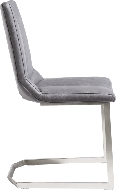 XOOON - Artella - design Scandinave - chaise - pied inox traineau - pala anthracite