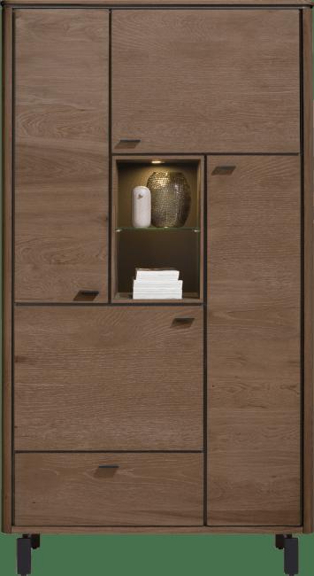 Henders & Hazel - Livada - Modern - schrank 110 cm. - 4-tueren + 1-lade + 2-nischen