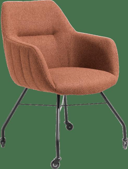 XOOON - Liv - fauteuil - cadre off black + avec roulettes