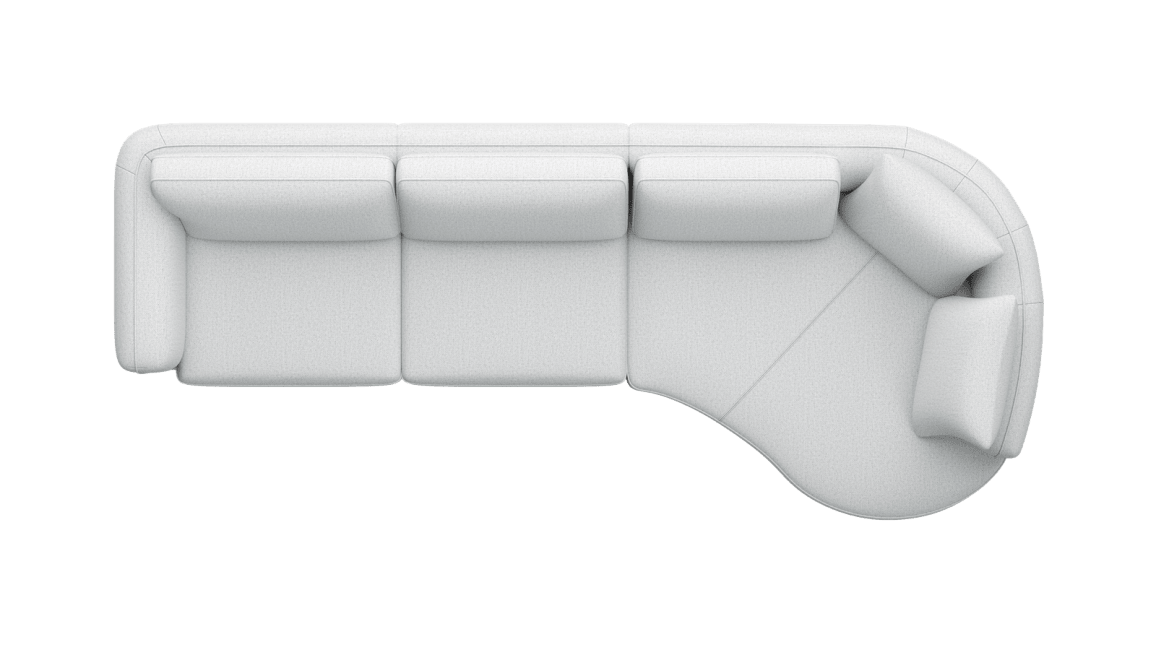 Henders & Hazel - Portland - Sofas - 3-Sitzer Armlehne links - Lounge end big