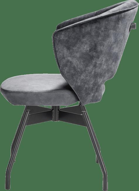 XOOON - Zebu - fauteuil - pivotant - cadre en metal + ressorts ensaches - combi karese/pala