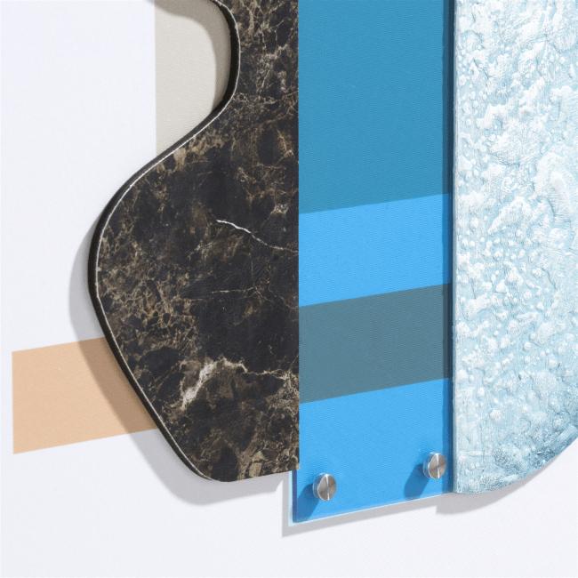 Happy@Home - Coco Maison - seventies blue schilderij 50x80cm