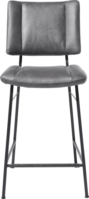 XOOON - Tatum - chaise de bar - pieds noir - tissu pala