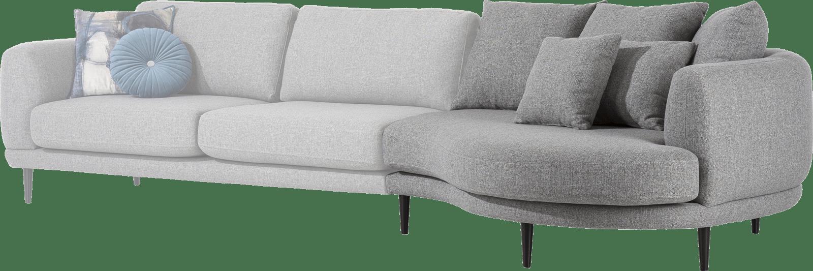 Henders & Hazel - Portland - Moderne - Canapés - lounge end 3 coussin big inclus - rond - droite
