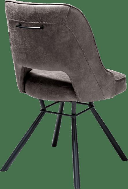 Henders & Hazel - Chris - Natuerlich - stuhl schwarz gestell + taschenfeder + handgriff rund schwarz - secilia