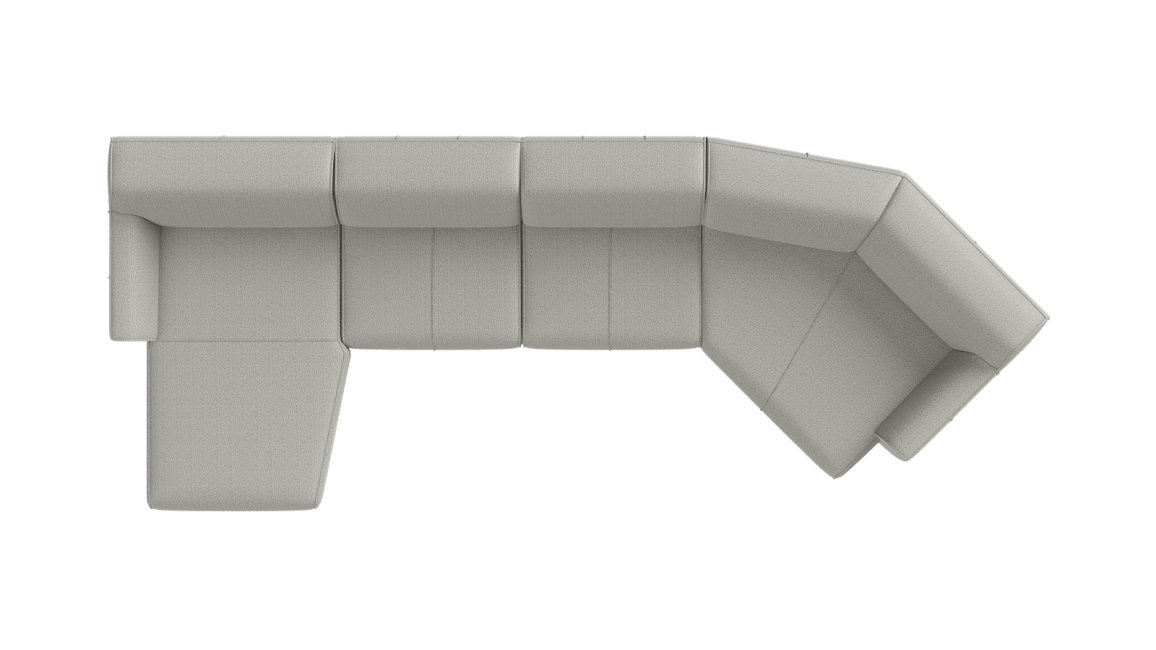 XOOON - Malaga - Sofas - curved Longchair links - 2,5 Sitzer ohne Armlehne - Lounge-end rechts