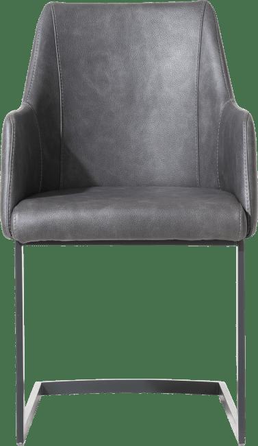 XOOON - Giuliette - Design minimaliste - fauteuil pied traineau noir (rob) - tissu pala